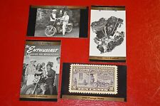 ★★4-HARLEY DAVIDSON MOTORCYCLES HISTORY PHOTO MAGNETs PAN HEAD-STAMP-50'S RACE★★