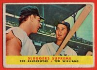 1958 Topps #321 Ted Williams VG+ WRINKLE HOF Boston Red Sox FREE SHIPPING