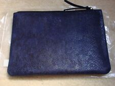 7 For All Mankind Women Blue Denim Makeup Bag One Size Nw W/ tag