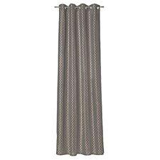 Ösen Voile Vorhang B:140cmxL:295cm  513-104 Brauntöne 2´er set