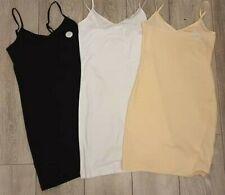 PRIMARK Ladies Girls Stretch Cami Longer Length Long Vest Top Mini Dress UK 6-20