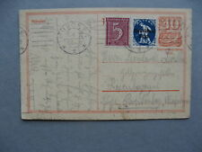 GERMANY INFLATION, uprated prestamped PC (card) 10-06-1922, total 1,25