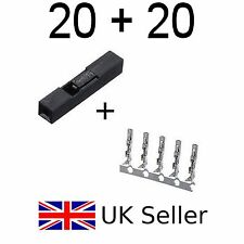 20 pcs 1P DuPont Housing + 20 Female crimps 2.54mm Pitch x connector pins