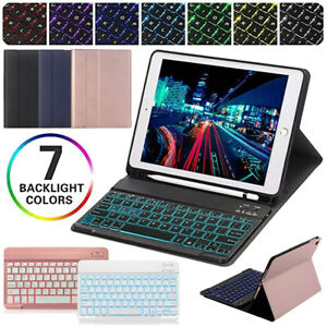 Backlit Bluetooth Keyboard Case Cover For iPad 6th/5th Gen 9.7 2018 2017 Air 1/2