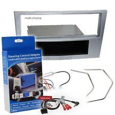 OPEL CORSA D 06-08 1-DIN radio de voiture Set d'installation chromé mat