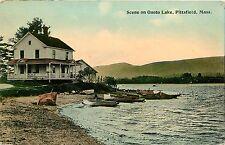 Massachusetts, MA, Pittsfield, Scene on Onoto Lake 1910 Postcard