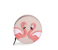 NWT KATE SPADE BY THE POOL COIN PURSE WALLET BAG FLAMINGO WARMVELLUM