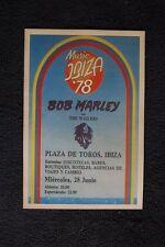 Bob Marley Tour Poster 1978 Ibiza Spain Plaza De Toros
