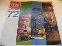 Lego catalogue annee 1972 /  large catalog from 1972