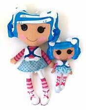 Lot of 2 Lalaloopsy Mittens Fluff n Stuff  Plush Dolls Rag Soft Button Eyes HUGE