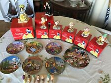 More details for snow white, witch, 5 dwarfs disney figurines, wall plates, toast, royal doulton