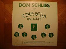KL RECORDING LP/ DON SCHLIES/ AT CINDERELLA BALLROOM/ EX VINYL/ COVER G