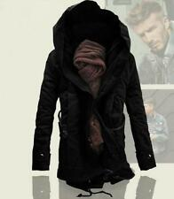New Men's Jacket Winter Stylish Hooded Canvas Cotton Warm Outwear Coat parka