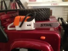 Chainsaw With Realistic Sound/rock crawler pickup truck /trailer.scale garage
