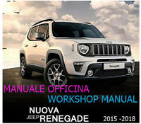 Jeep  RENEGADE – MANUALE OFFICINA – MANUAL WORKSHOP – 2015-2018!