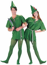 Peter Pan Fancy Dress Up Party Costume Elf Robin Hood Peter Pan Adult Unisex