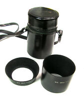Pair Vintage 52mm MINOLTA LENS HOODS -- MC 35mm F/2.8 and MC 135mm f/3.5 w/ Case