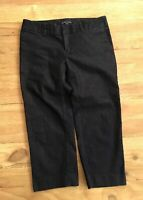 Gap Dark Denim Capri Pants  Hip Slung Fit Slim Crop Stretch Cotton - Size 4