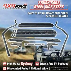 Side Steps Brush Rail Bars for Navara D21 D22 D40 NP300 Dual Cab SYD Stock