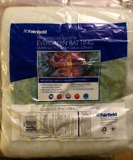 """Fairfield Evergreen Needlepunched Polyester Batting - Queen Size 90"""" x 108"""" Eb90"""