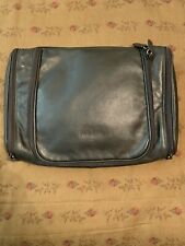 Gold Pfeil Travel Toiletry Accessory Bag Black Leather