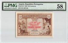 Angola 1923 P-63 PMG Choice About UNC 58 50 Centavos