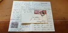 Hong Kong 1856 cover plus original contents RARE need investigation and research