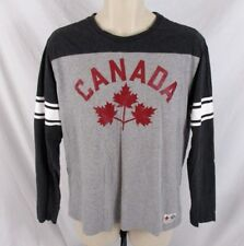 Hudson's Bay Canada Mens Olympic Shirt Gray Sz M #12 Official Outfitter CB77N