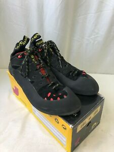 La Sportiva Men's Tarantulace Climbing Shoes Black/Poppy Size 14 (2106221042)
