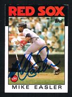Mike Easler #477 signed autograph auto 1986 Topps Baseball Trading Card