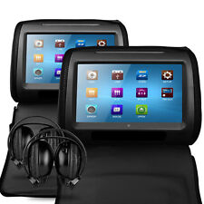 "9"" DVD per auto universale touch screen Hd Poggiatesta SD/USB/FM/Games 2 X CUFFIE IR"