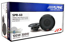 "ALPINE SPR-60 6.5"" 2-WAY CAR AUDIO COAXIAL SPEAKERS (PAIR) New SPR60 6 1/2"""
