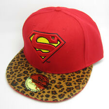 Red Leopard Superman hiphop Snapback Adjustable baseball cap flat hat Costume