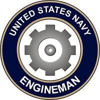 """Navy Engineman EN 5.5"""" Die Cut Sticker 'Officially Licensed'"""