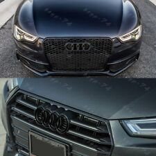 Black Audi Rings Grill Front Hood A1 A3 A4 S4 A5 S5 A6 S6 SQ7 TT SC Badge Emblem