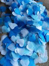 2000 confettis coeur blanc bleu ciel/pétrole Mariage Baby-shower Anniversaire