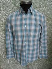 180 L42 Hugo Boss Camisa Talla M Blanco Aqua gris herrumbre
