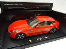 HOT WHEELS ELITE 1:18 AUTO DIE CAST FERRARI FF ROSSA INTERNI MARRONI 2011 W1105