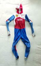 Spandex hooded full suit by RUS team. Shiny and very smooth suit