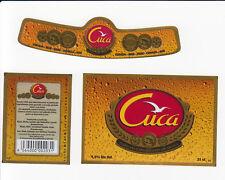 1 etiqueta de cerveza angola, Cuca BGI
