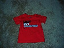 NWOT Infant Baby Boys 12 M Nike S/S T Shirt Top 'Lazy But Talented' Red