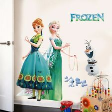 Cartoon Frozen Princess Elsa Anna Mural Wall Decal Sticker Kids Room Decor