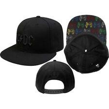 ac   dc oficial canon pop-art negro snapback gorra de béisbol sombrero  angus har d2d1ab22351