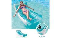 POLTRONA MATERASSINO GONFIABILE LOUNGE INTEX 58856 - 188x99 cm piscina mare