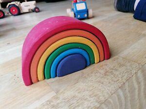 Grimms Regenbogen klein 6-teilig Stapelspielzeug Holz *öko* Waldorf