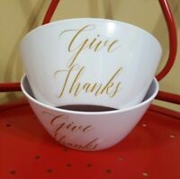 2 Holiday Havest Give Thanks Bowls Appetizer and Dip Serving 6 inch