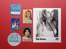 Tori Amos,Promo Photo,5 Rare Backstage passes Various Tour Originals