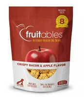 2 bags Fruitables Crispy Bacon & Apple Flavor Crunchy Dog Treats 7 oz.