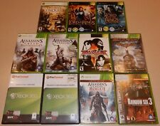 11 Used Lot XBOX Games Scratches Lord of the Rings Assassin's Creed Rainbow 6 +