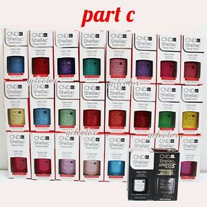 CND Shellac UV LED Gel Nail Polish Base Top Coat 7.3ml 0.25oz Pick ANY * PART C
